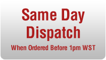 Same Day Dispatch When Ordered Before 1pm WST